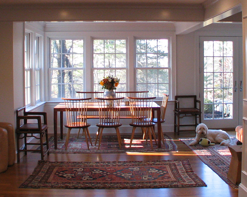 Georgian Family Room Addition Dining Area